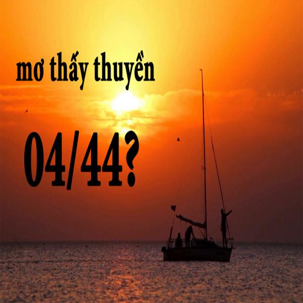 Các con số ứng với giấc mơ đi thuyền trên sông