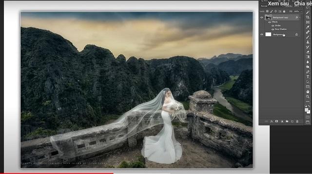 Kết quả là một tấm ảnh có bo viền trắng 3D đẹp mắt và có chiều sâu.