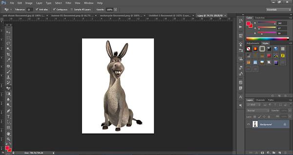 Kết thúc quá trình thực hiện cách tách nền trắng trong photoshop cs6