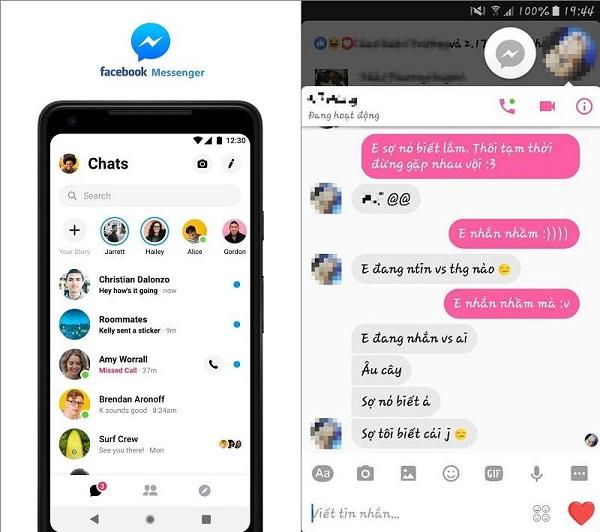 Messenger là ứng dụng liên lạc, nhắn tin, trò chuyện được dùng phổ biến nhất hiện nay trên thế giới