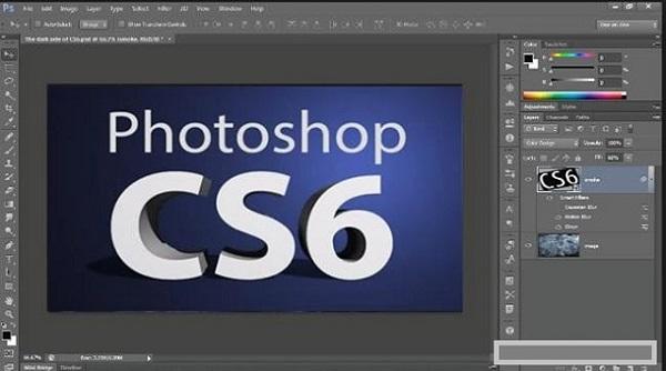 Mở chương trình photoshop cs6