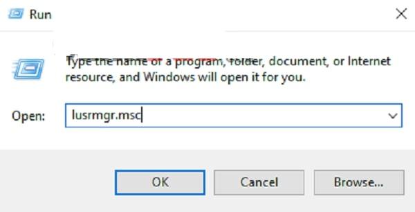 Mở hộp lệnh Run và nhập gợi ý vào rồi click Ok