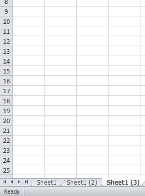 Tạo nhiều sheet trên một giao diện excel