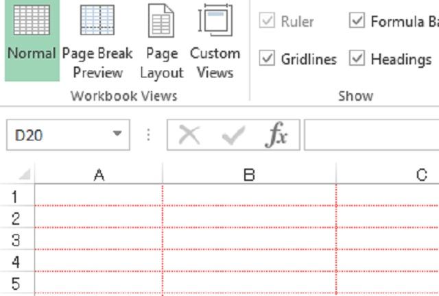Cách xóa đường line trong Excel