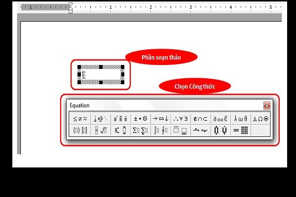 Hai phần chính để tạo phân số