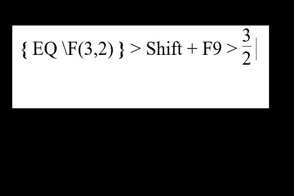 Kết quả ta được phân số sau khi nhấn tổ hợp Shift F9