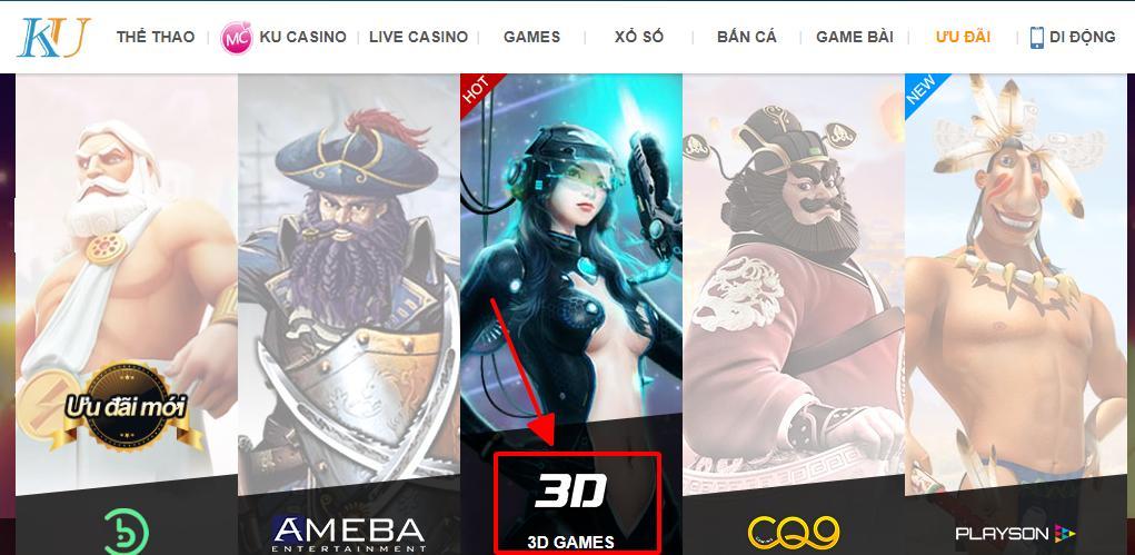 Xóc đia là game 3D hấp dẫn tại Ku Casino